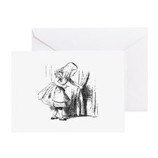 Alice & The Tiny Door Greeting Card