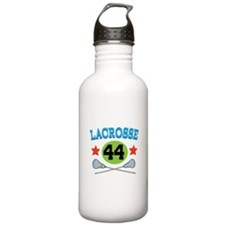 Lacrosse Player Number 44 Water Bottle