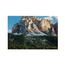 Peak in Dolomites called Sassongh Rectangle Magnet