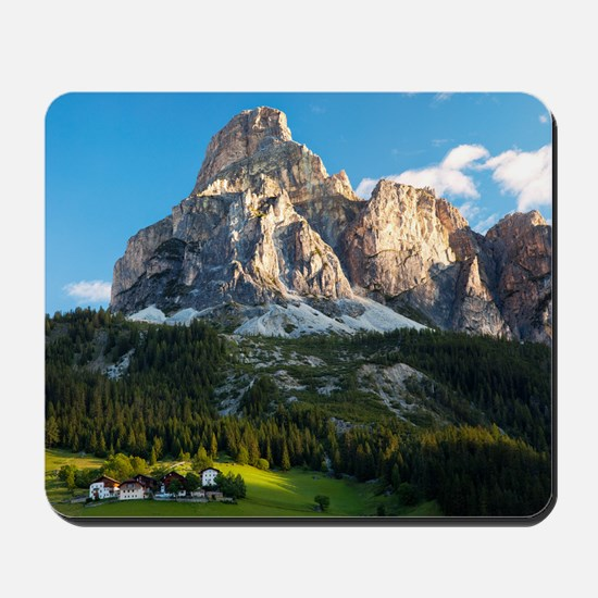 Peak in Dolomites called Sassongher at s Mousepad