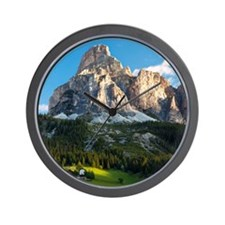 Peak in Dolomites called Sassongher at  Wall Clock