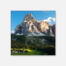 "Peak in Dolomites called Sa Square Sticker 3"" x 3"""