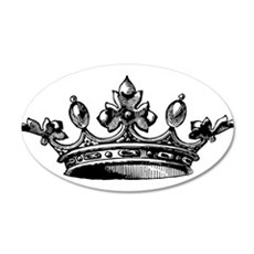 Crown 20x12 Oval Wall Decal