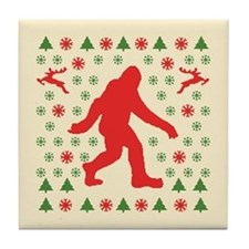 Sasquatch Sweater Tees Tile Coaster