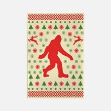 Sasquatch Sweater Tees Rectangle Magnet