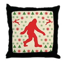 Sasquatch Sweater Tees Throw Pillow
