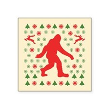 "Sasquatch Sweater Tees Square Sticker 3"" x 3"""