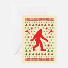 Sasquatch Sweater Tees Greeting Card