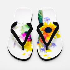 Vase of summer flowers Flip Flops
