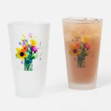Vase of summer flowers Drinking Glass