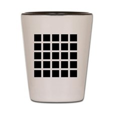 Hermann grid Shot Glass