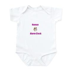 Human Alarm Clock Infant Bodysuit