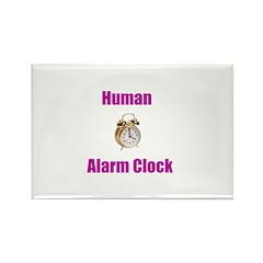 Human Alarm Clock Rectangle Magnet (10 pack)