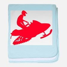 Red-Snowmobiler.png baby blanket