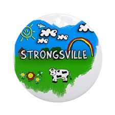 Strongsville Round Ornament