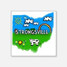 "Strongsville Square Sticker 3"" x 3"""