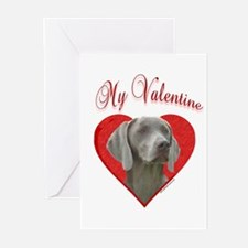 Weim Valentine Greeting Cards (Pk of 10)
