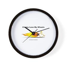"""Chicks Love"" Wall Clock"