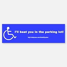"""""""Beat You"""" Bumper Bumper Bumper Sticker"""