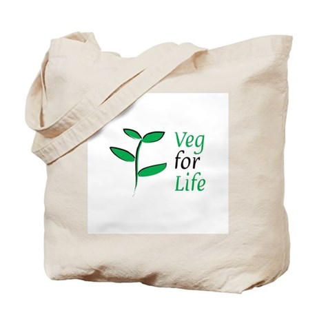 Veg for Life Tote Bag
