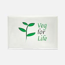 Veg for Life Rectangle Magnet (100 pack)