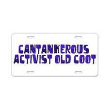 Cantakerous Old Coot Aluminum License Plate