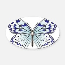 Butterfly Oval Car Magnet