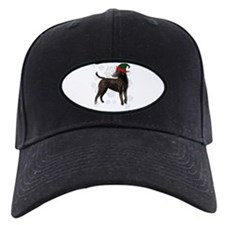Curly Coated Retriever with elf hat Baseball Hat