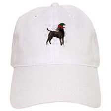Curly Coated Retriever with elf hat Baseball Cap
