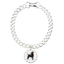 Curly Coated Retriever with elf hat Bracelet