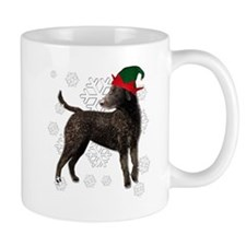 Curly Coated Retriever with elf hat Mug