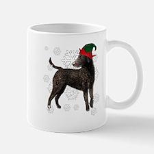Curly Coated Retriever with elf hat Mug