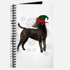 Curly Coated Retriever with elf hat Journal