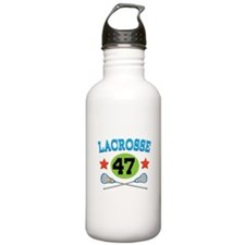 Lacrosse Player Number 47 Sports Water Bottle