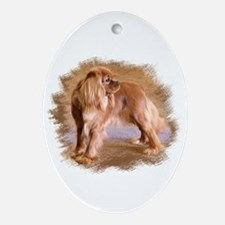 Cavalier King Charles Spaniel Ruby Ornament (Oval)