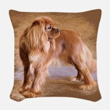 Cavalier King Charles Spaniel Ruby Woven Throw Pil