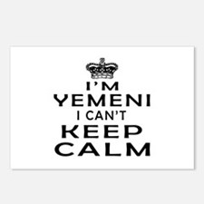 I Am Yemeni I Can Not Keep Calm Postcards (Package