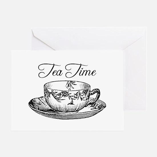 Tea Time Tea Cup Greeting Card