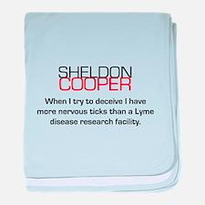 Sheldon Cooper's Deceive Quote baby blanket