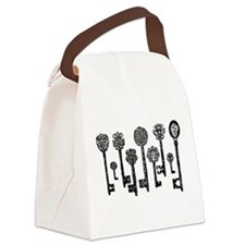 Vintage Keys Canvas Lunch Bag