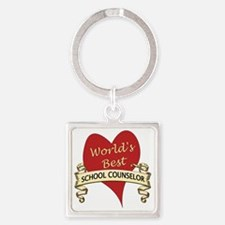 School Counselor Square Keychain