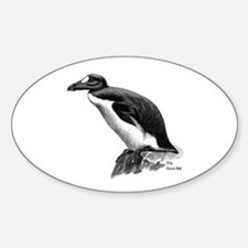 Great Auk Oval Decal