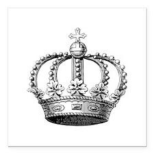 "King's Crown Square Car Magnet 3"" x 3"""