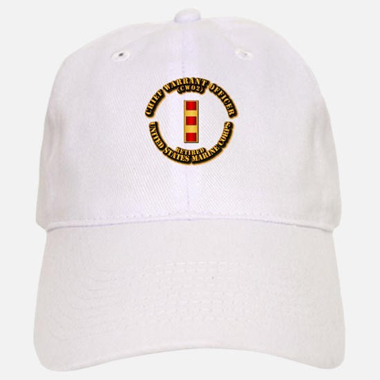USMC - CW2 - Retired Baseball Baseball Cap