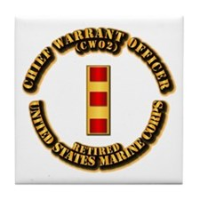 USMC - CW2 - Retired Tile Coaster