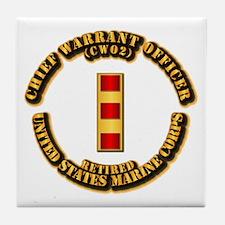 USMC - CW2 - Retired Tile Coaster