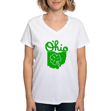 O'Hio Irish Ohio Women's V-Neck T-Shirt