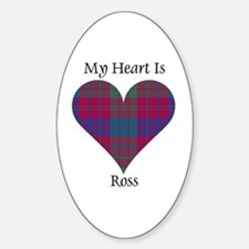 Heart - Ross Sticker (Oval)