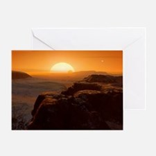 Alien landscape, artwork Greeting Card