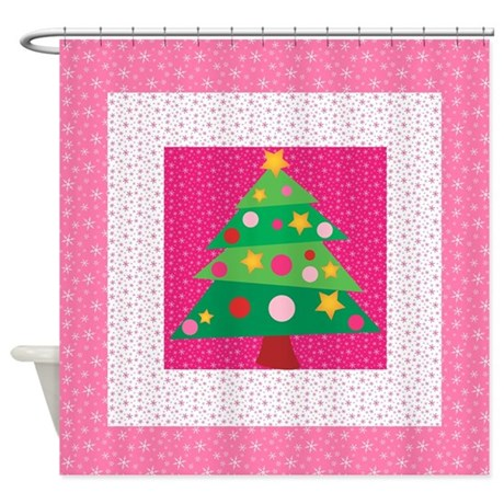 Whimsical Christmas Tree Shower Curtain By Stircrazy